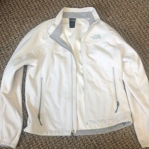 The North Face white/ cream jacket
